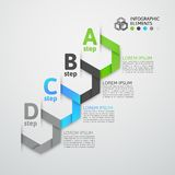 Modern business step origami style options banner Royalty Free Stock Image