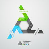 Modern business step origami style options banner. Vector illustration Royalty Free Stock Images