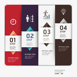 Modern business step up options template. Royalty Free Stock Photo