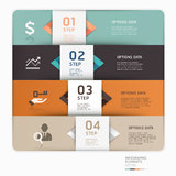Modern business step up options template. Vector illustration. can be used for workflow layout, diagram, number options, web design, infographics Royalty Free Illustration