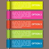 Modern business steps to success charts and graphs options. royalty free illustration