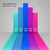 Modern business steps to success charts. And graphs options banner Royalty Free Stock Photo