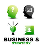 Modern business and strategy  icon set Royalty Free Stock Photo