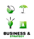 Modern business and strategy  icon set Stock Image