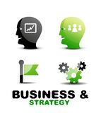 Modern business and strategy  icon set Stock Photography