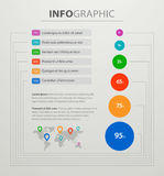 Modern business success chart and graph. Vector illustration infographic elements vector illustration