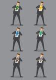 Modern Business Superhero Vector Icon Set Stock Photos