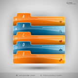 Modern business tabs for infographics Royalty Free Stock Photo