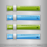 Modern business tabs - infographics - template for web design or Royalty Free Stock Images