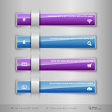 Modern business tabs - infographics - template for web design or Stock Photo