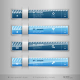 Modern business tabs - infographics - template for web design or Stock Photos