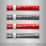 Modern business tabs - infographics - template for web design or Stock Images