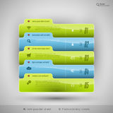 Modern business tabs for infographics Royalty Free Stock Images