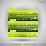 Modern business tabs for infographics Stock Images