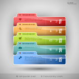 Modern business tabs for infographics Royalty Free Stock Image