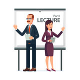 Modern business teachers giving a lecture Stock Photography
