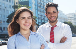 Modern business team in the city Stock Photo