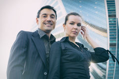 Modern business team outdoor Stock Images