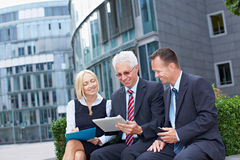 Modern business team outside Stock Photos