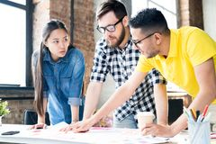 Modern Business Team Planning Project stock image