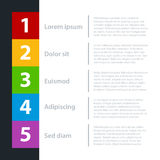 Modern business template for presentations or web design Royalty Free Stock Images