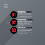 Modern business template with three numbered options on gray background Stock Image