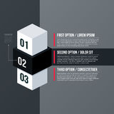 Modern business template with three numbered options on gray background Royalty Free Stock Images