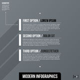 Modern business template with three text options on gray background Stock Photography