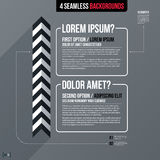 Modern business template with two text options on gray background Royalty Free Stock Photography