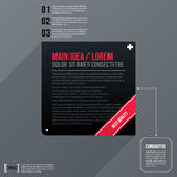 Modern business text background with black square Stock Images
