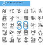 Modern business , thin line icons set Stock Images