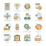 Modern Business Thin Line Icons Stock Photography