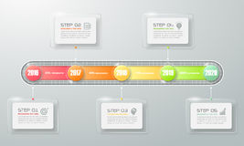 Modern business timeline.  Can be used for workflow layout, Stock Photography