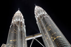 Modern business tower. View of Petronas Towers - modern business architecture stock photos
