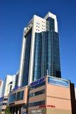A modern business tower in Astana Stock Photos