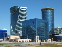 Modern business towers in Astana Stock Photography