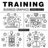 Modern business training pack. Royalty Free Stock Photography