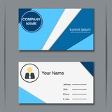 Business visiting card vector design template Royalty Free Stock Image