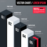 Modern business vector chart template with 3d isometric elements on gray background. Neutral corporate style Royalty Free Stock Photo