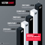 Modern business vector chart template with 3d isometric elements on gray background. Neutral corporate style Royalty Free Stock Photos
