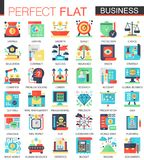 Vector Modern business vector complex flat icon concept symbols for web infographic design. stock illustration