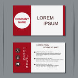 Modern business visiting card vector template Stock Photos