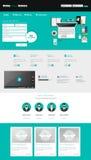 Modern Business Website Template Design Stock Photo