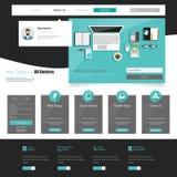 Modern Business Website Template Design Royalty Free Stock Photos
