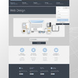 Modern Business Website Template Design Stock Images
