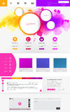 Modern Business Website Template Design Royalty Free Stock Images