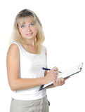 Modern business woman royalty free stock photography