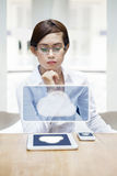 The modern business woman Stock Images