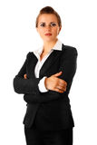 Modern business woman with crossed arms on chest Stock Images