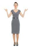 Modern business woman meditating Royalty Free Stock Image